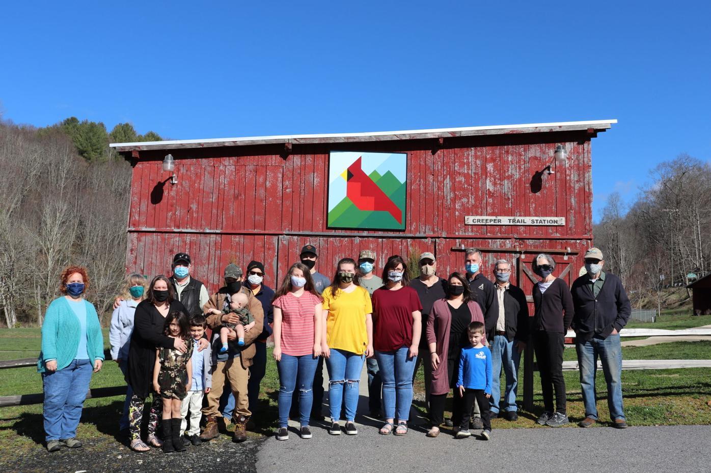 Lansing creeper trail park barn quilt