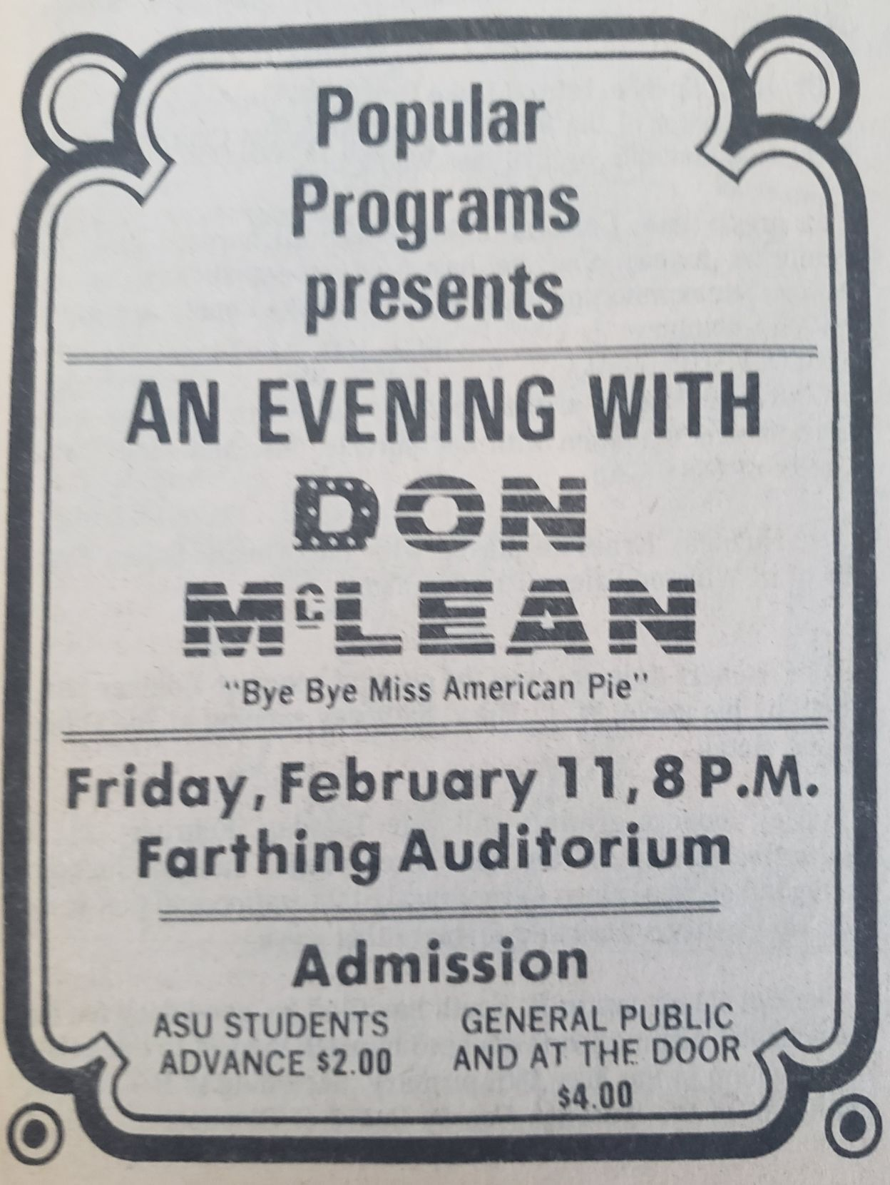 Don McLean ad