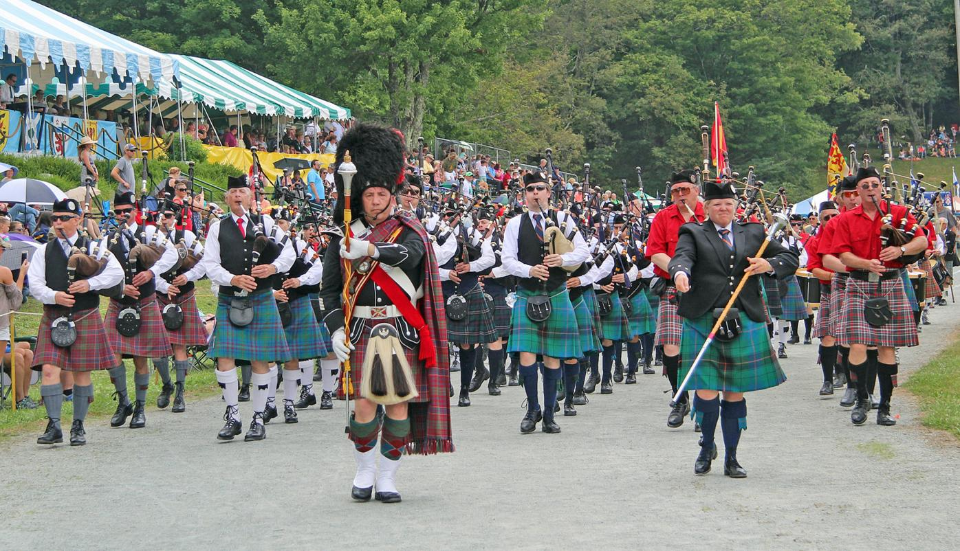 Highland Games pipes band