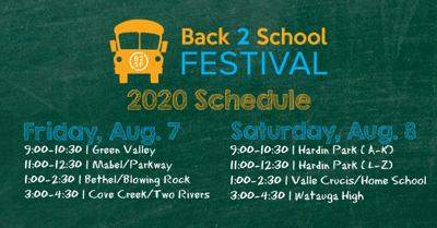 Back 2 School Festival drive-thru schedule