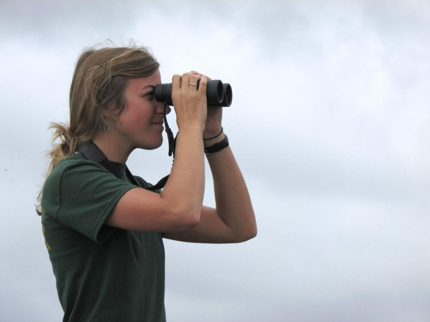 Hawk Watch participant Emily Kimmel