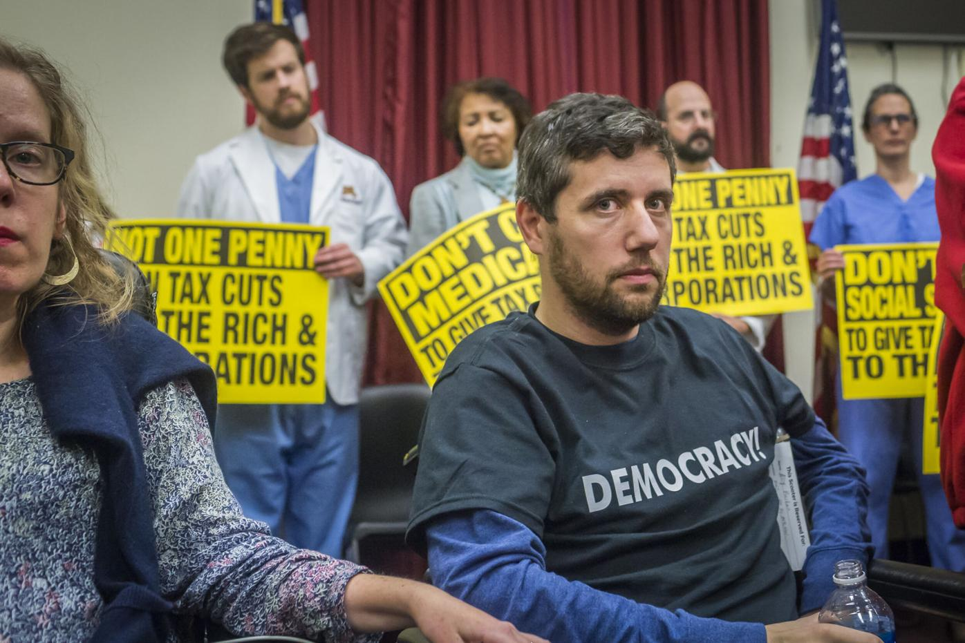Protesters Arrested Following 'Die-In' Against GOP Tax Plan at Capitol Hill