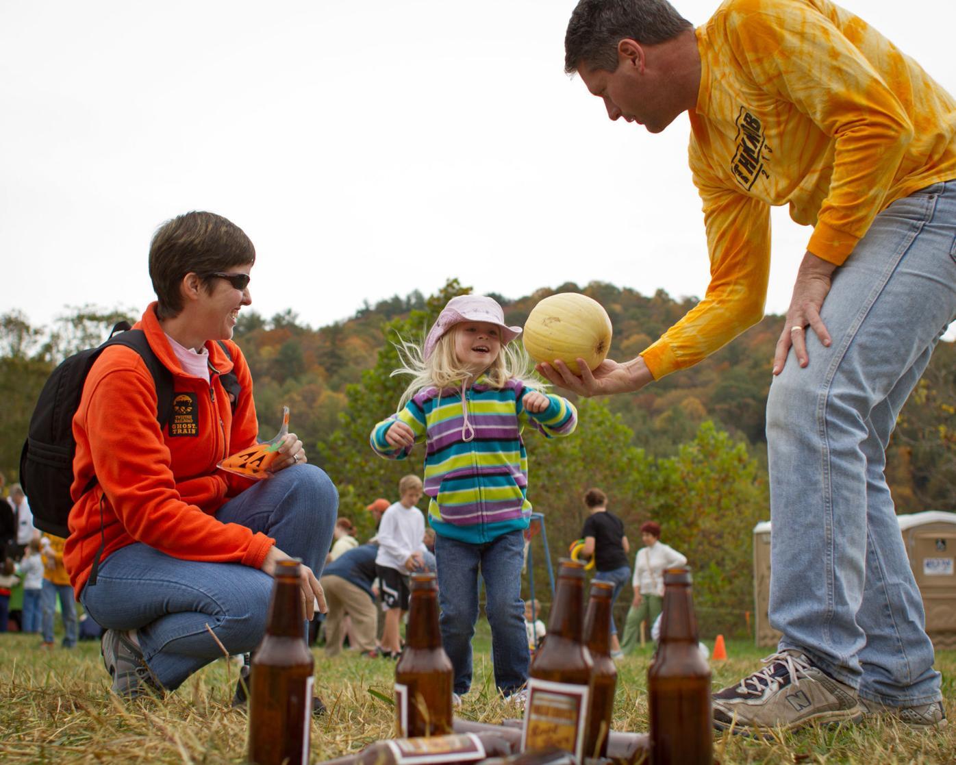 Pumpkin bowling at Valle Country Fair