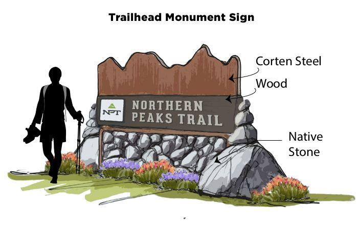 Northern Peaks Trail signage
