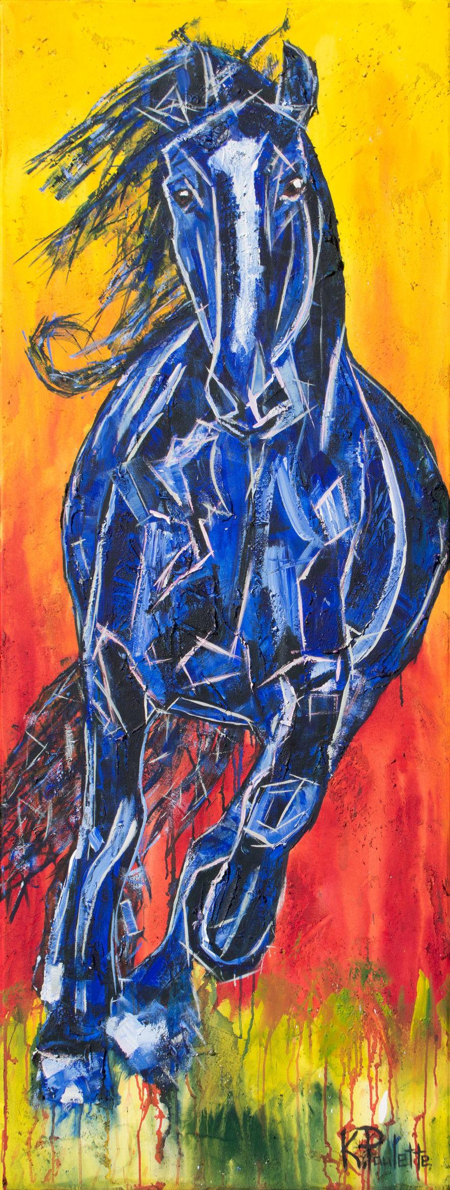 "'Running Wild' (74"" x 28"") by Kent Paulette"