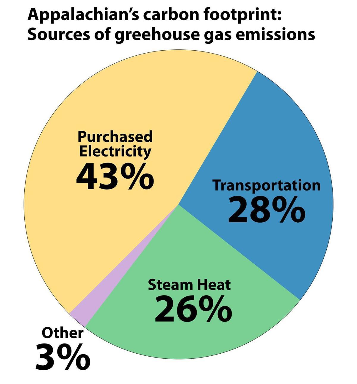 Carbon footprint pie chart