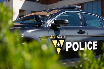 App State Police car