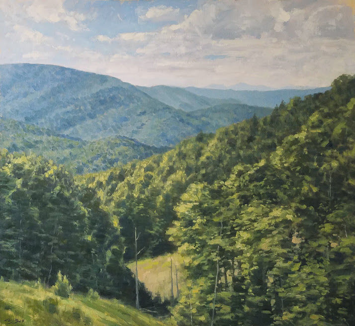 'Mountain Summer' by Chris Bell at the Martin House Gallery