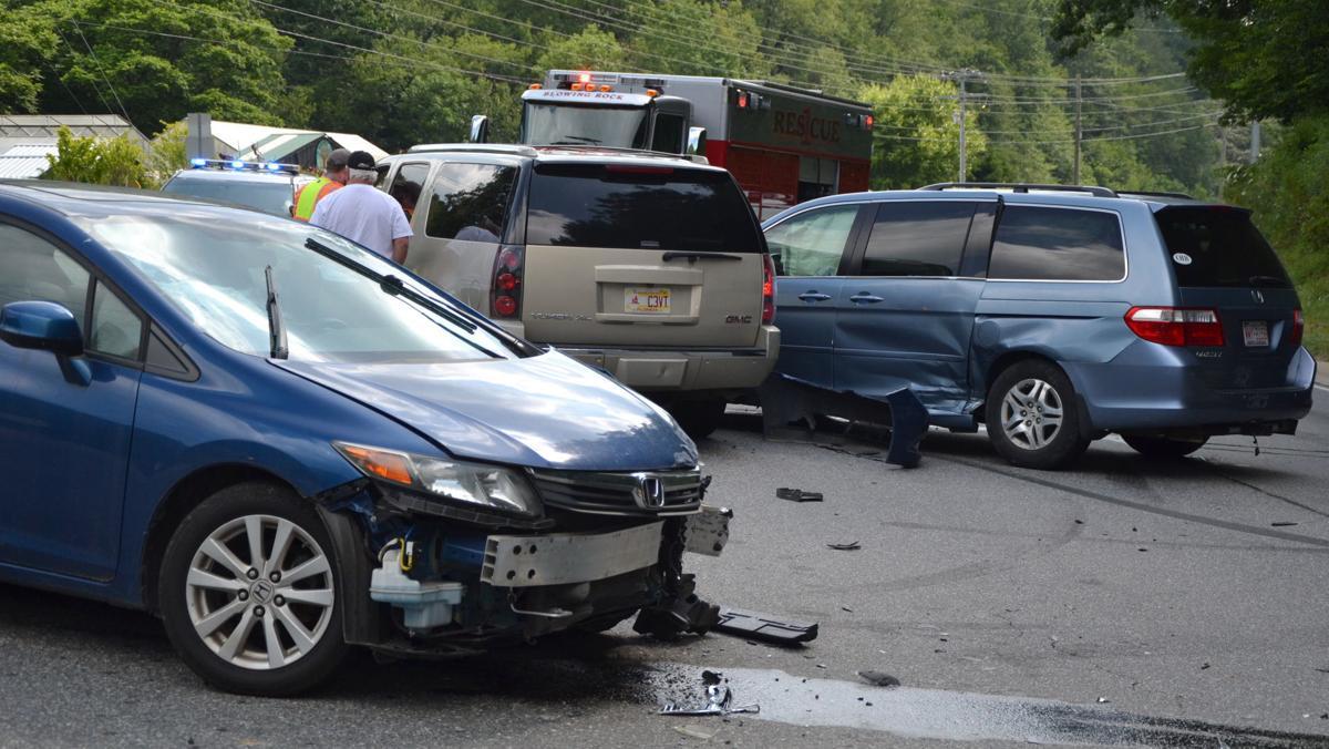 Three vehicle wreck