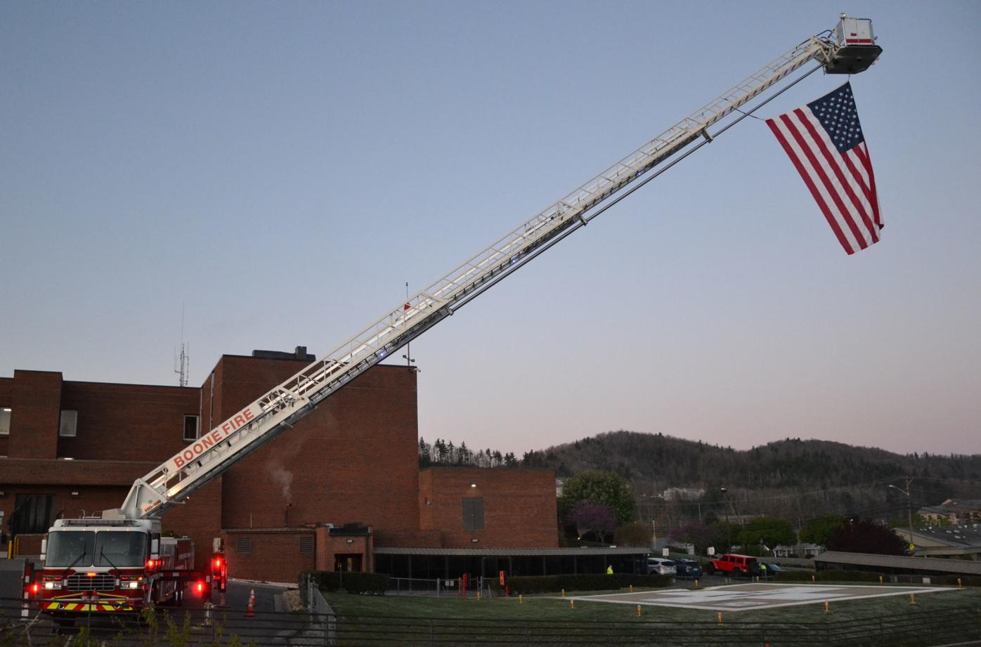 Boone Fire, flag