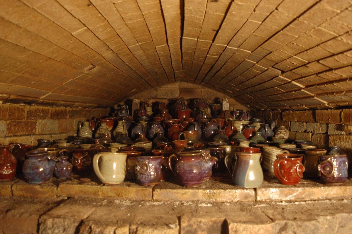 A full wood kiln