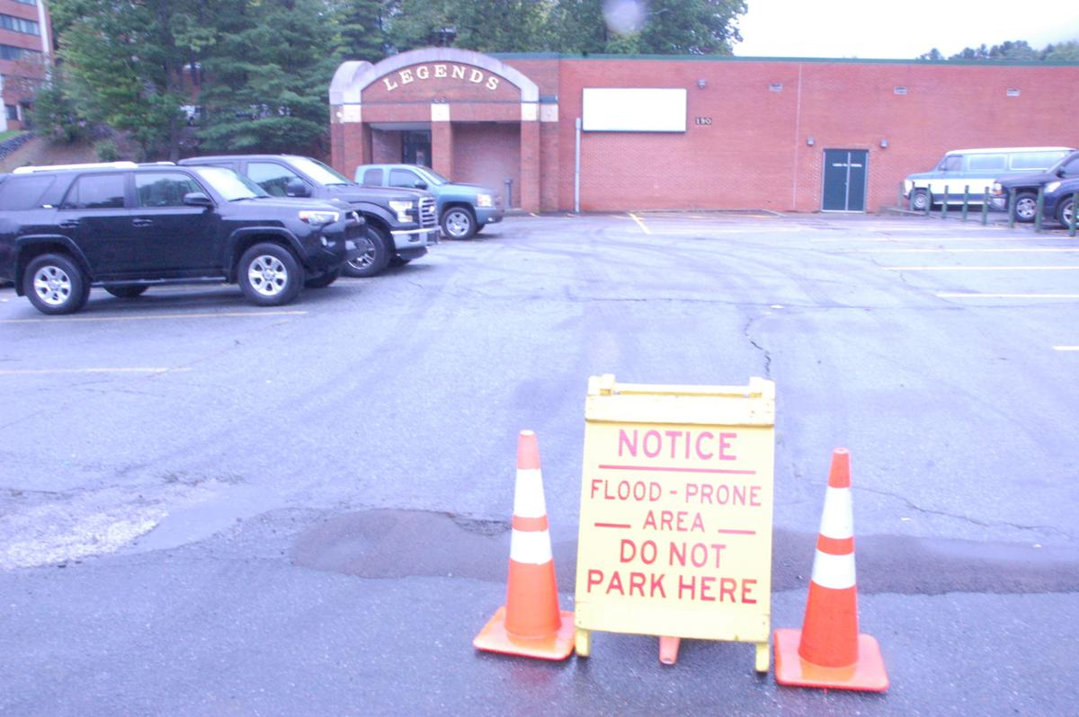 Flood plain parking at ASU