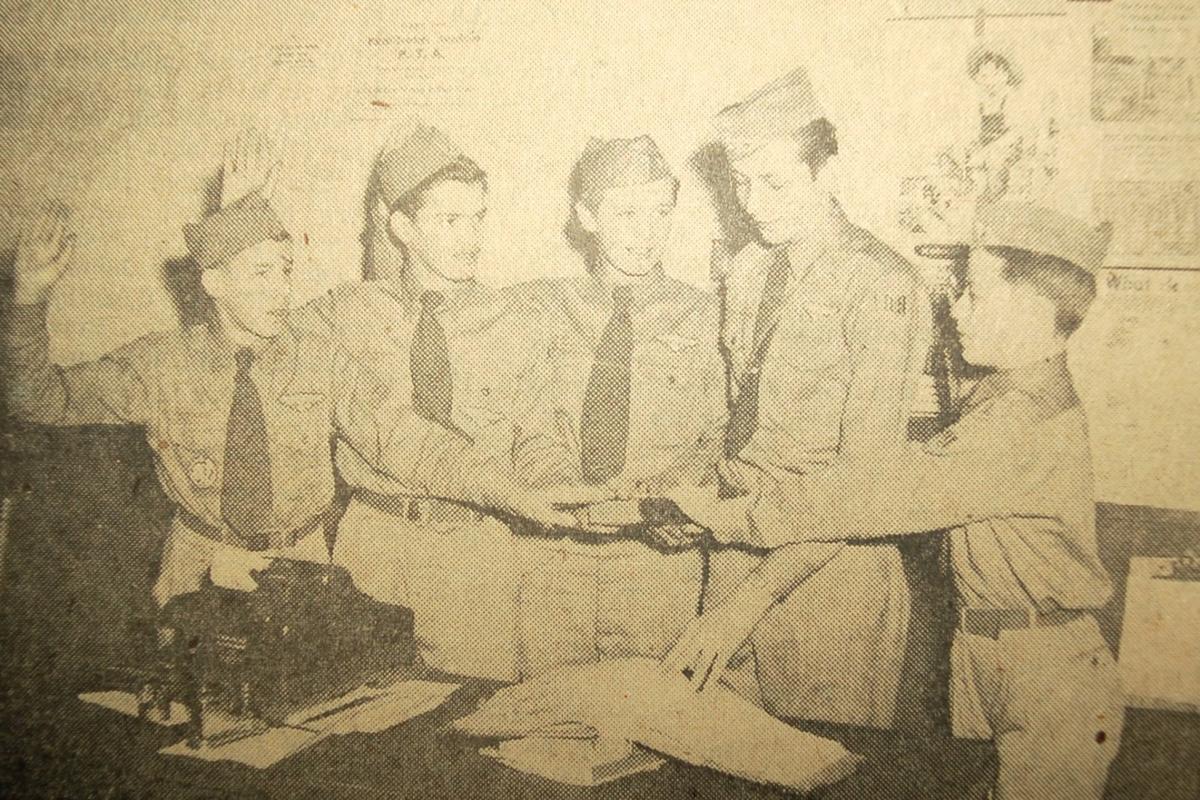 Boy Scouts sworn in