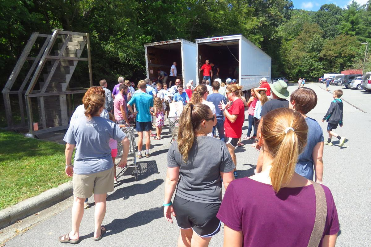 """""""Unload Sunday"""" is a full congregational effort as the Fall Bazaar approaches."""