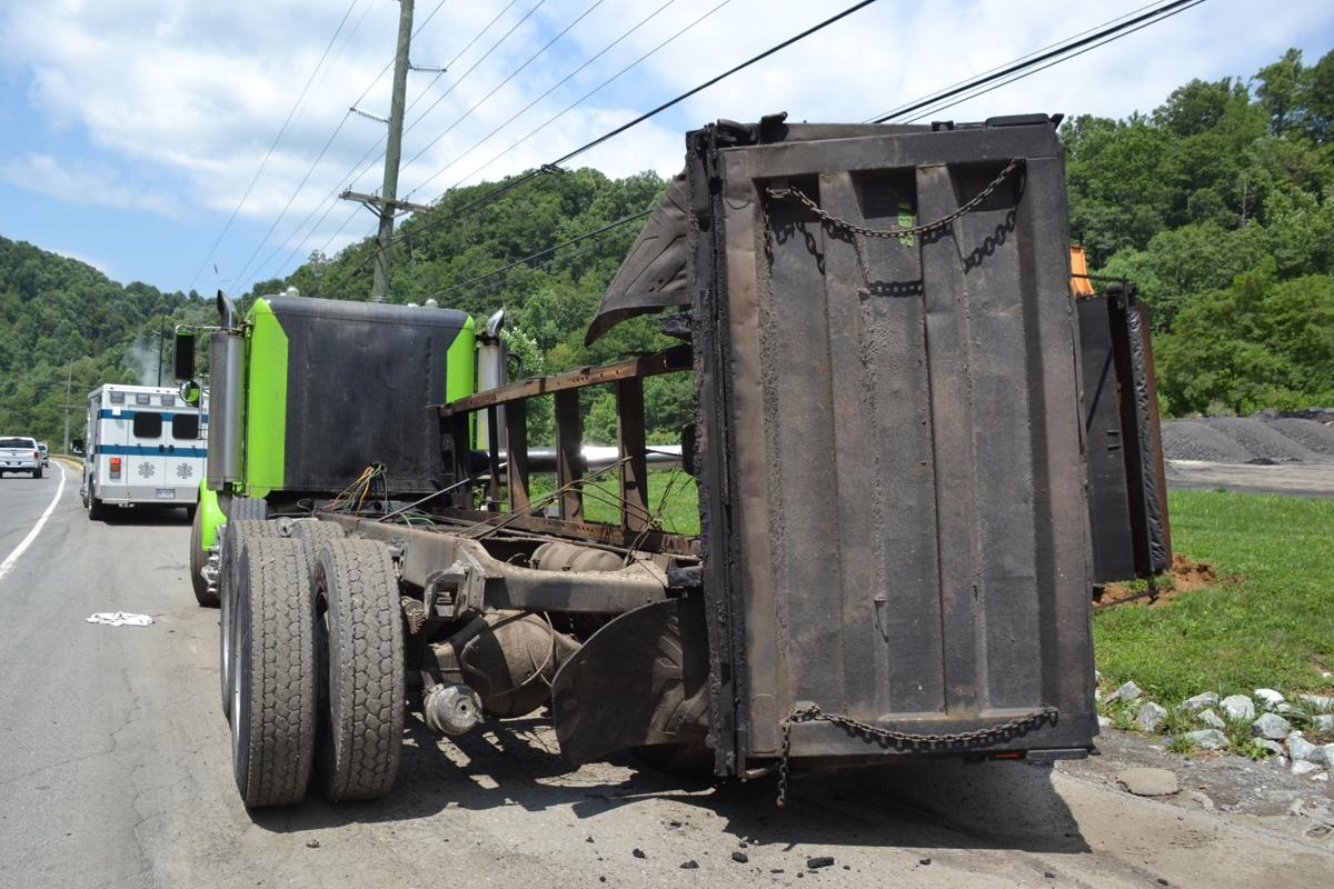 Dump truck overturns after hitting powerlines | News