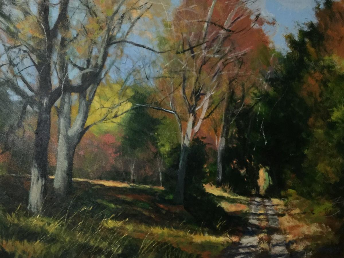 'October on Hannah Road' by Bill James at Blowing Rock Frameworks & Gallery