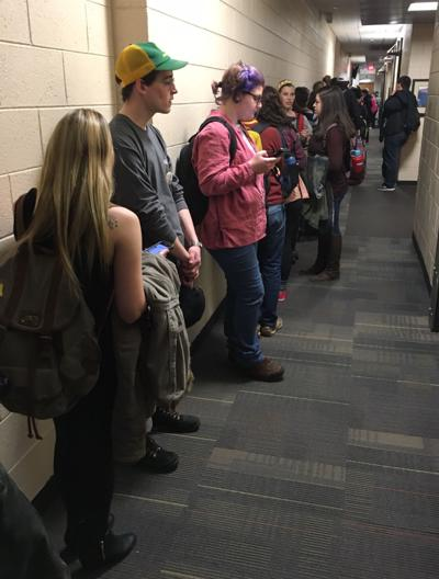 Early voting line at ASU