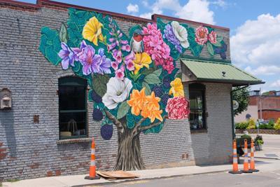 'Tree of Appalachia' by Whitney Stuart Landwehrmann, still unfinished.