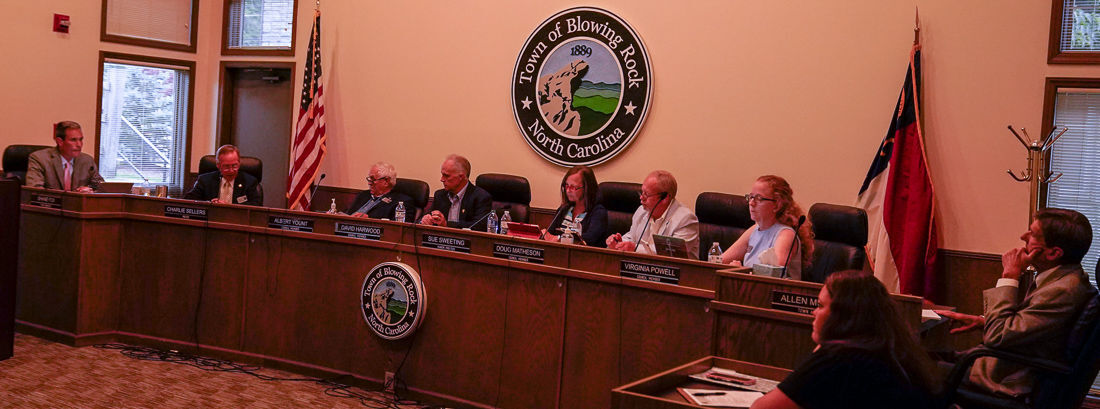 Blowing Rock town council meeting