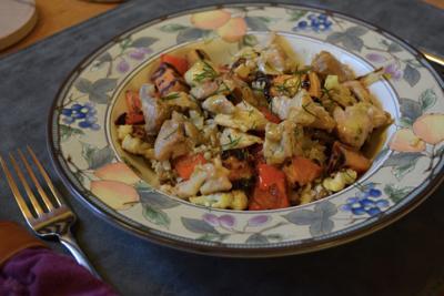 Roasted vegetable grain bowl