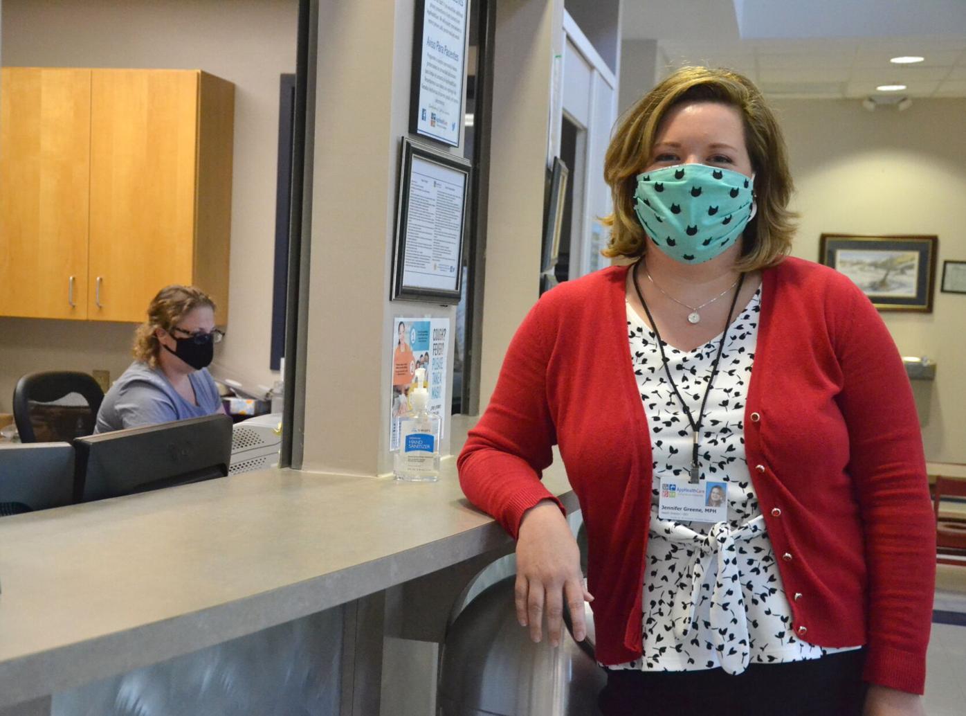 Jennifer Greene in health department lobby