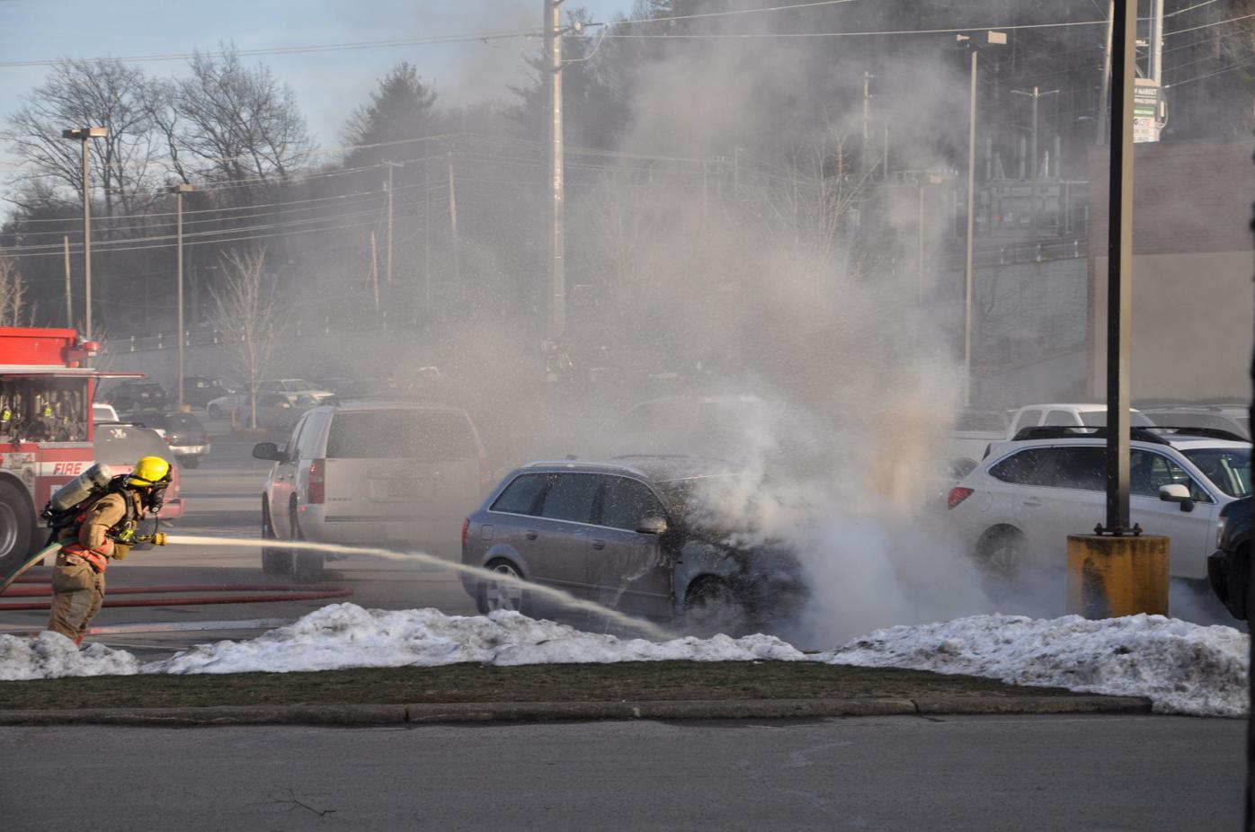 New Market Centre car fire 2