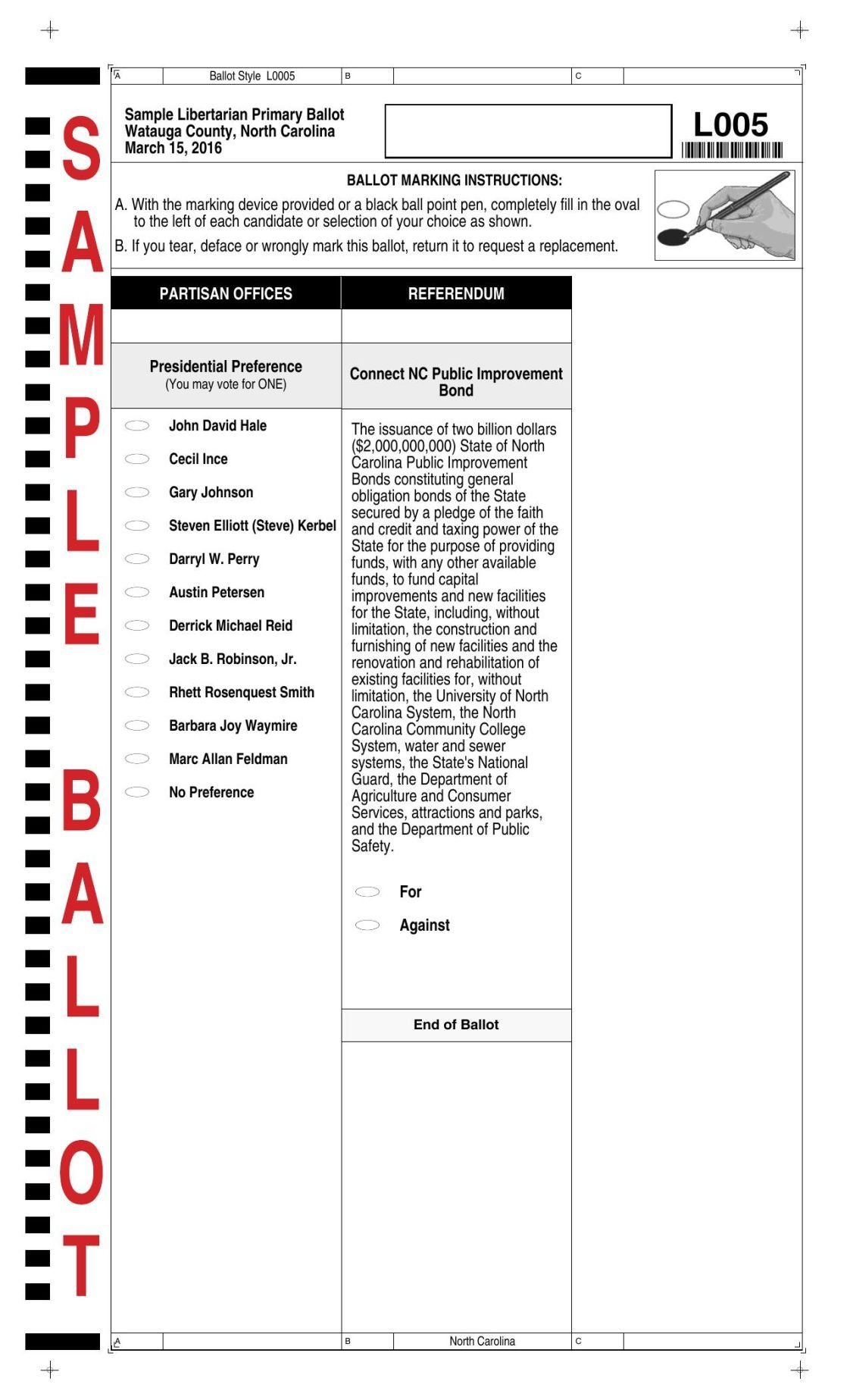 View sample primary ballots for Watauga County | News ...
