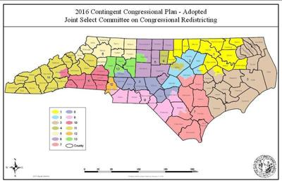 2016 NC Congressional Districts