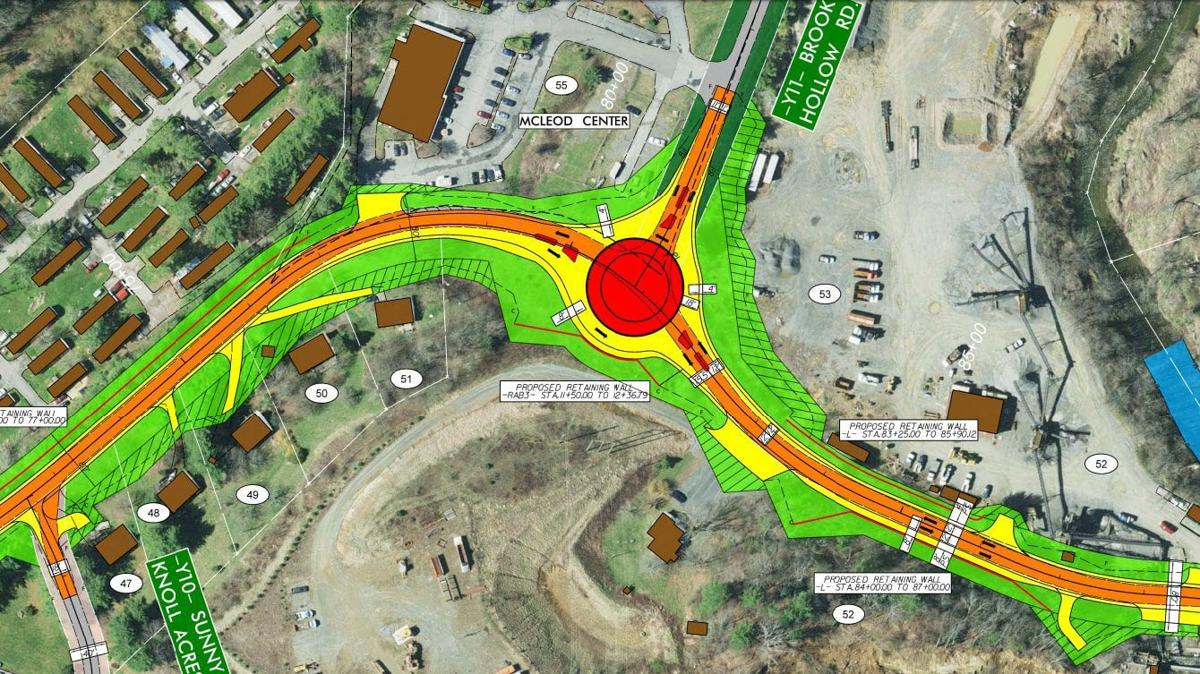 Planned Bamboo and Brook Hollow roundabout