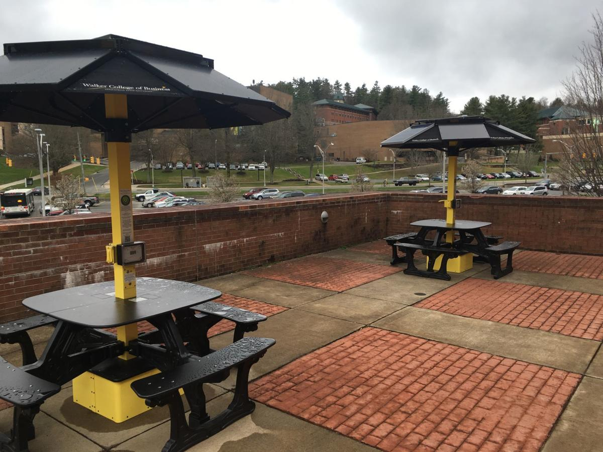 App State Adds Three Solarpowered Smart Picnic Tables ASU News - Solar picnic table