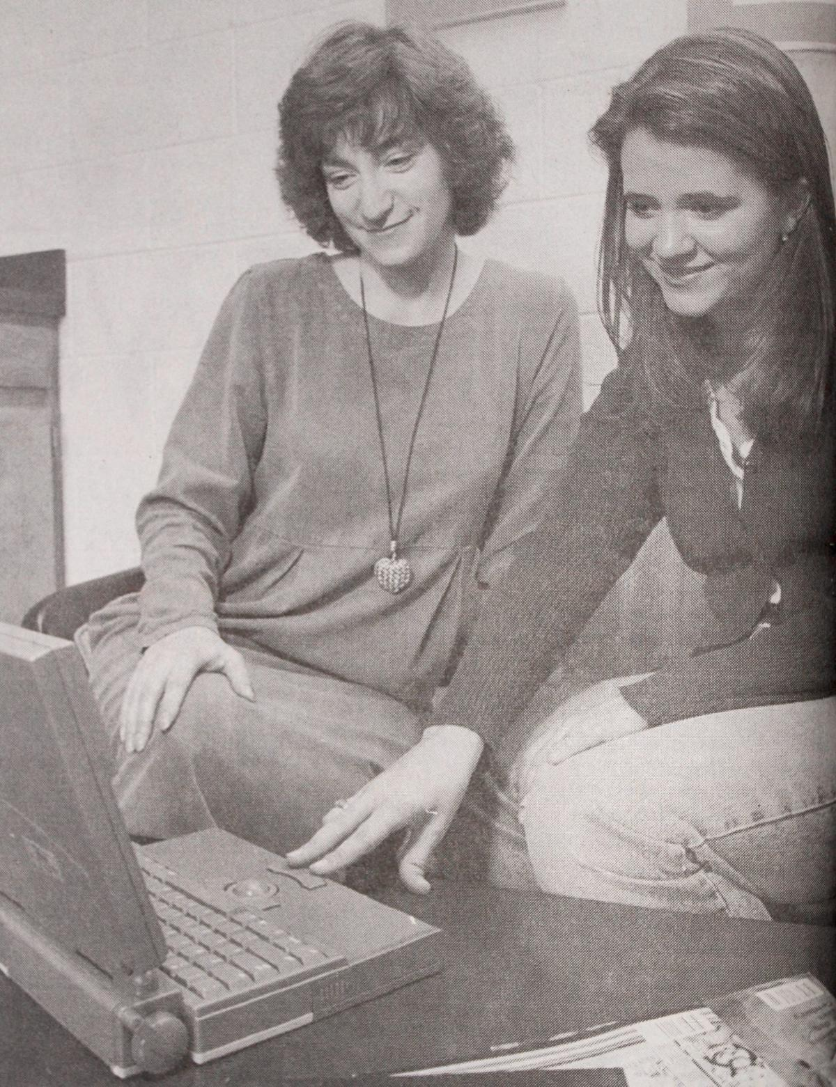 Holly Hirst and Tammy Lindsey laptop