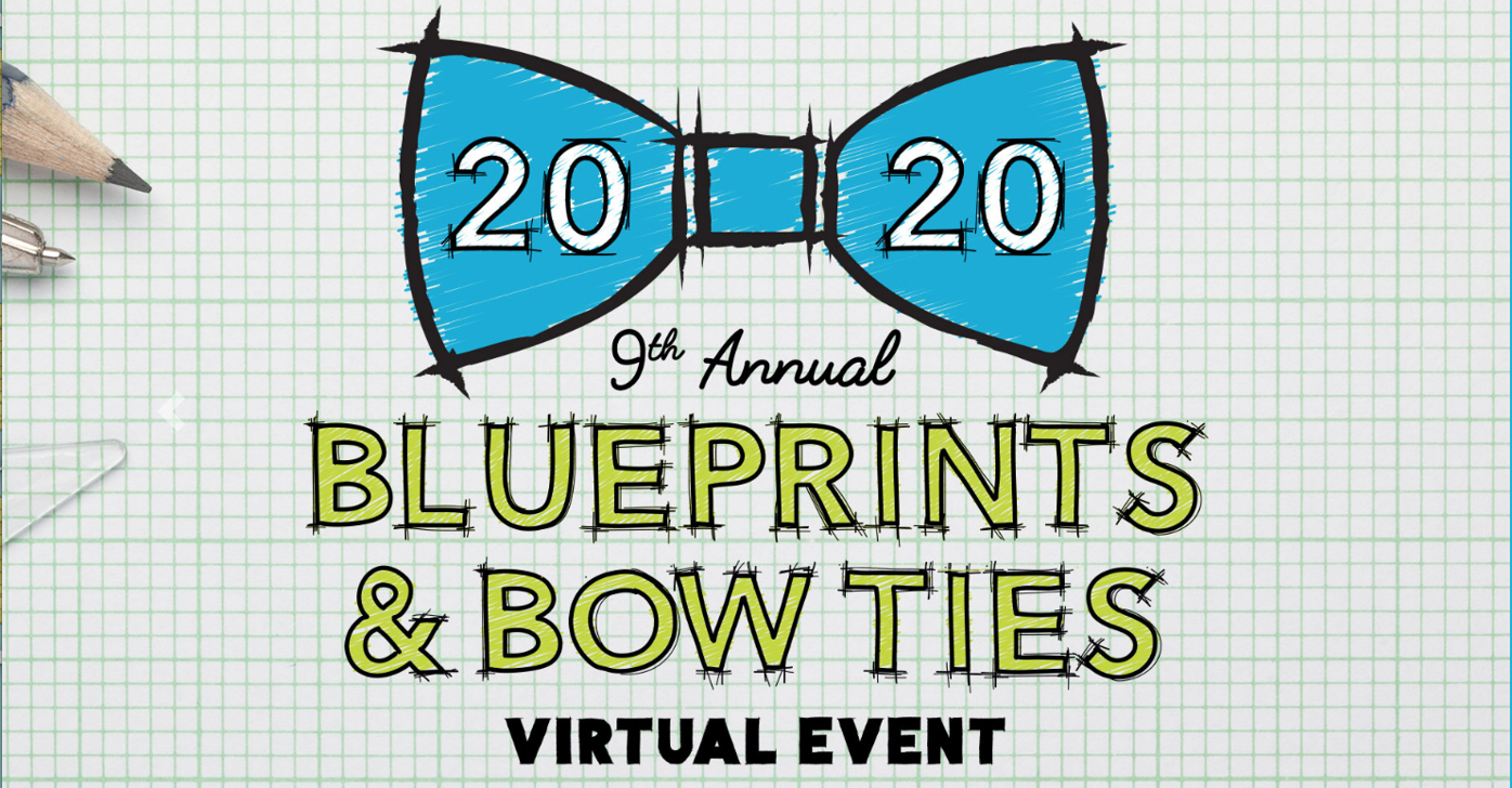 Blueprints and bow ties logo