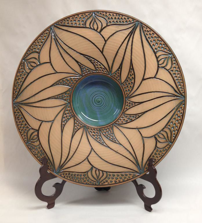 Handmade pottery by Bob Meir is on display at the Mountain Blue Gallery in October.