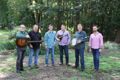 Sideline band members bring bluegrass to the Ashe Civic Center on Oct. 5.