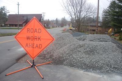 Sunset Drive road work