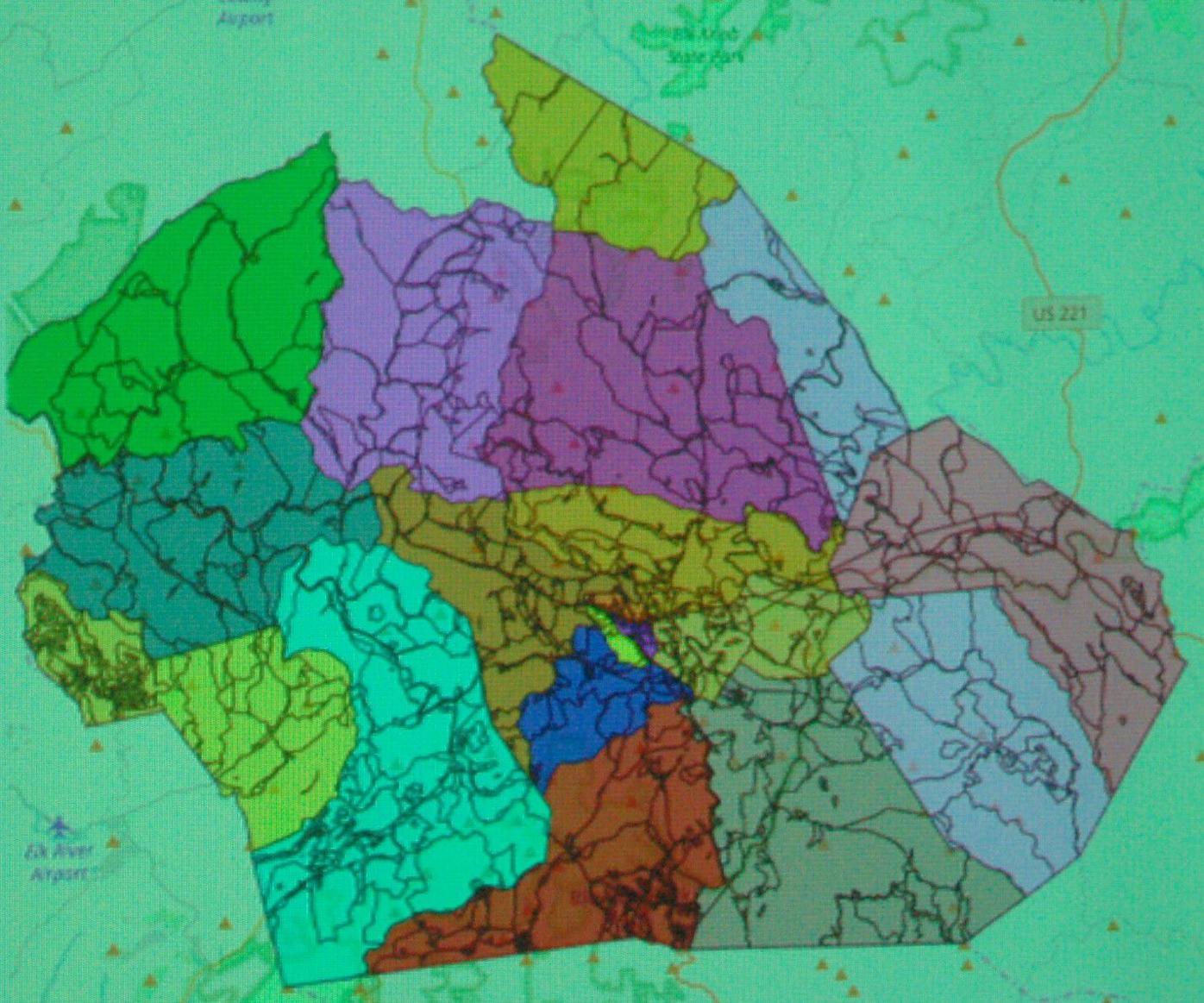 Watauga County new precinct map