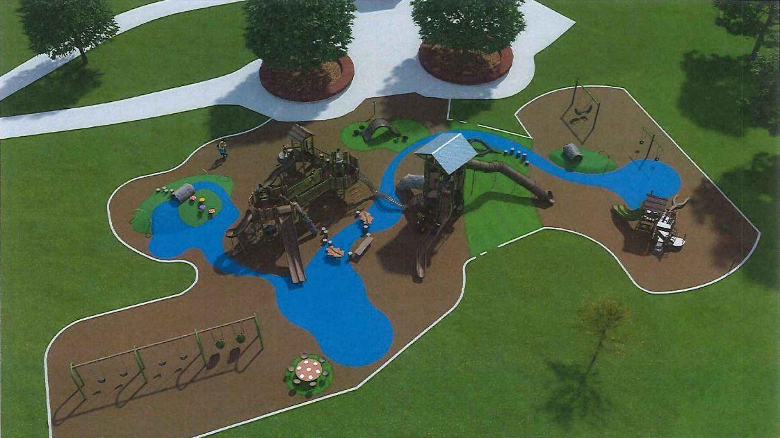 Memorial Park playground render