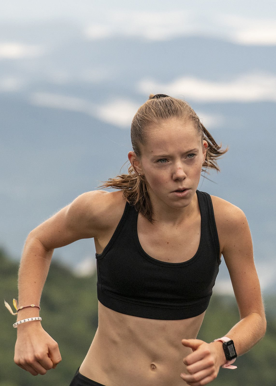 In her first time on the course, Joanna Thompson, 26, of Knoxville, Tenn., and ZAP Fitness in Blowing Rock, was The Bear's first women's finisher with a time of 36:13.1.