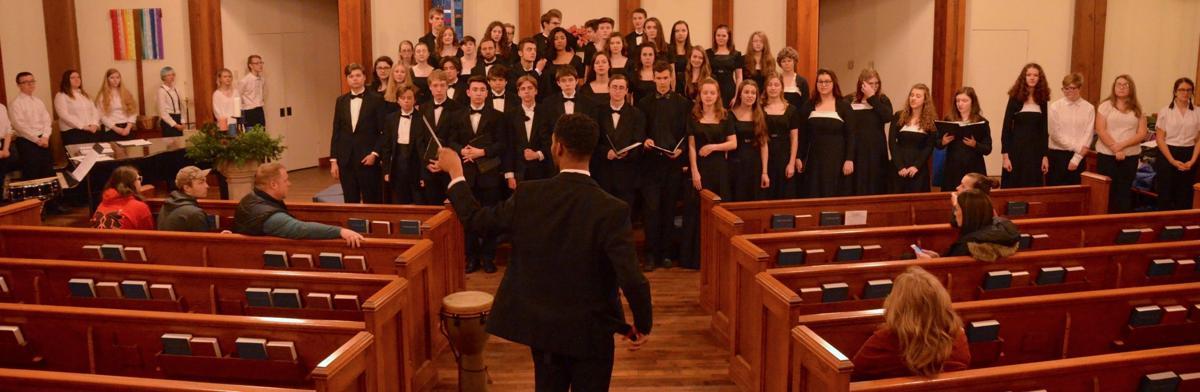 WHS choir students