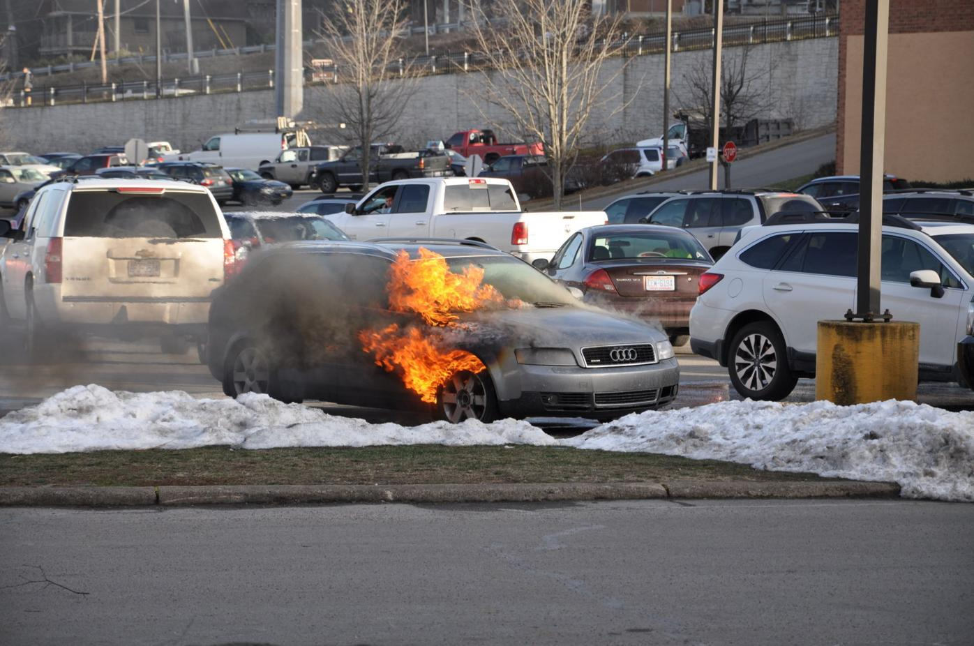 New Market Centre car fire 1