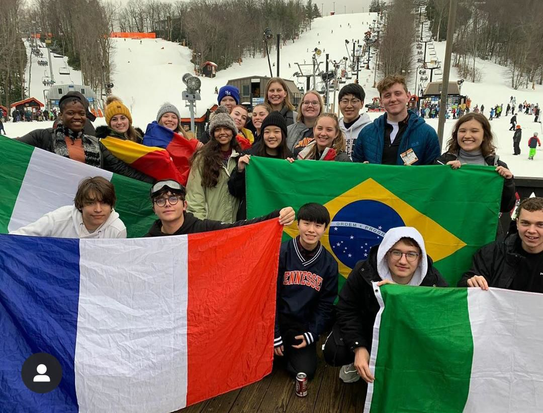 Rotary Exchange students at App Ski Mtn.