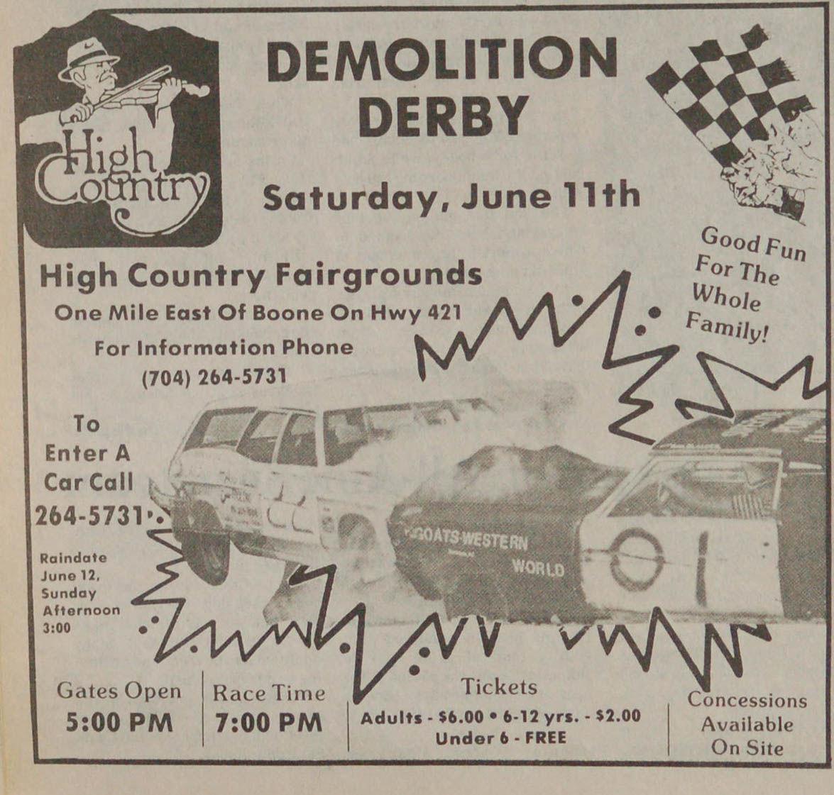 Demolition Derby ad