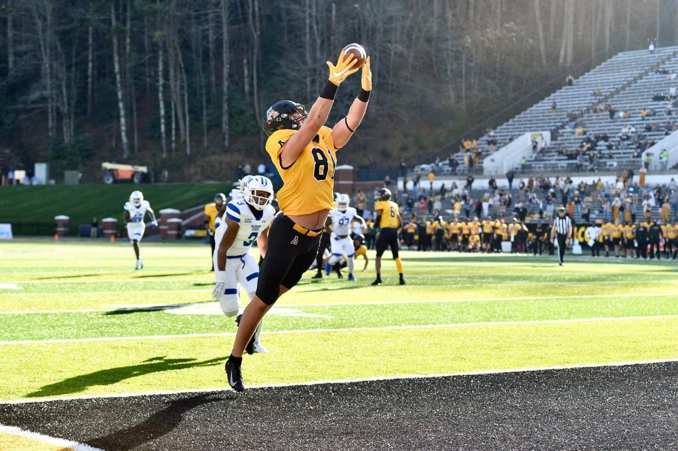 Gibbs hauls in App State's first TD first Georgia State