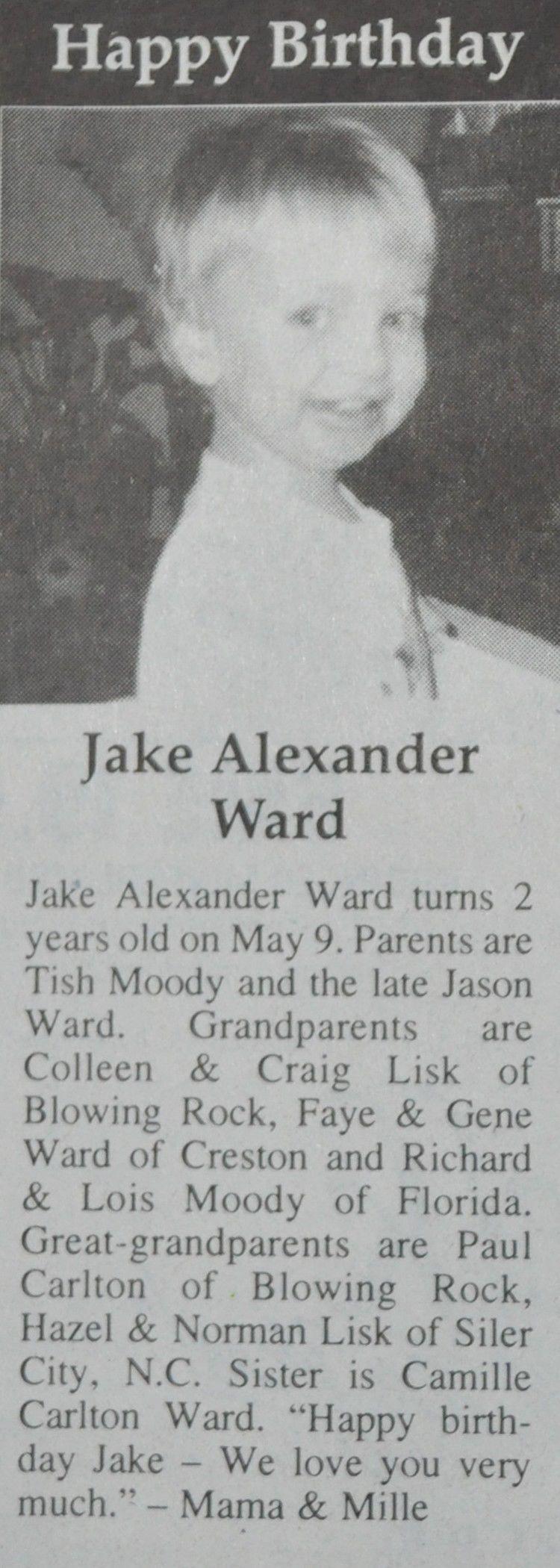Happy Birthday Jake Ward