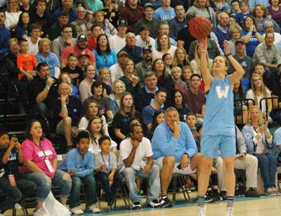 Barry shoots the ball
