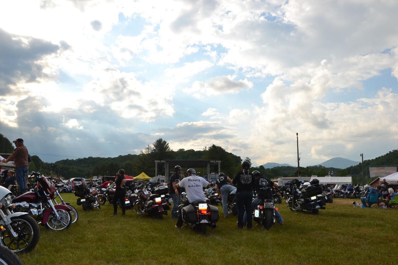 Bikers at Boone Bike Rally