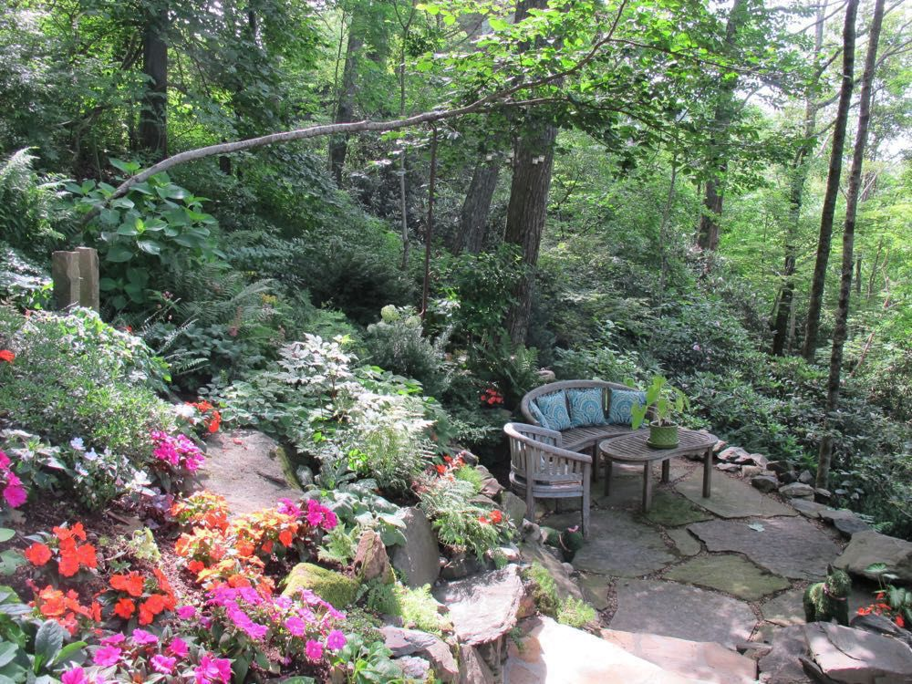 Anne Calta helps homeowners create beautiful spots on challenging slopes.