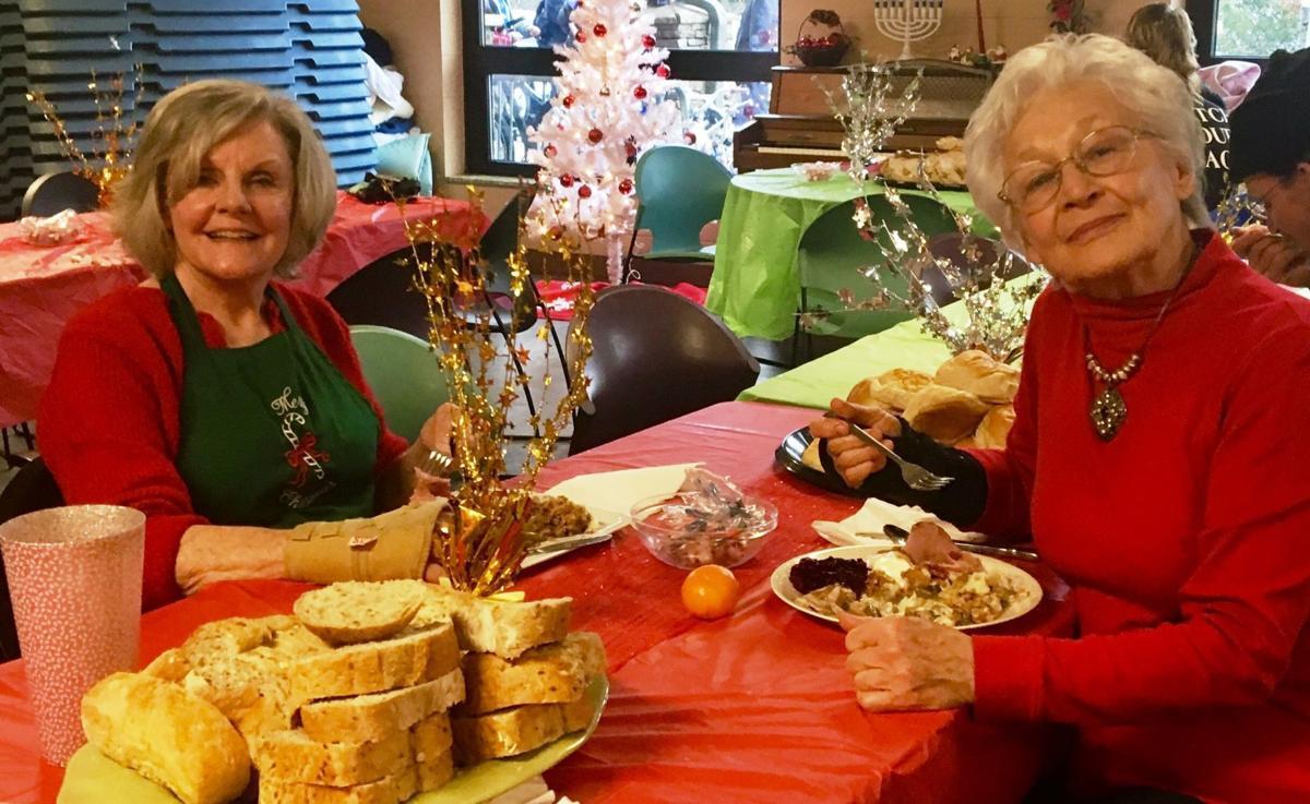 Volunteers Barbara McGuire Campbell and Carol VanGundy