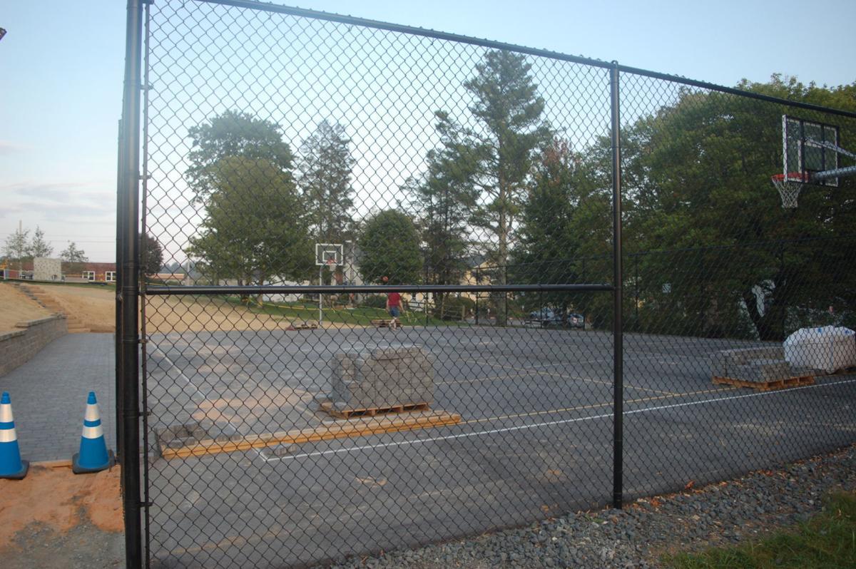 Memorial Park lower basketball court