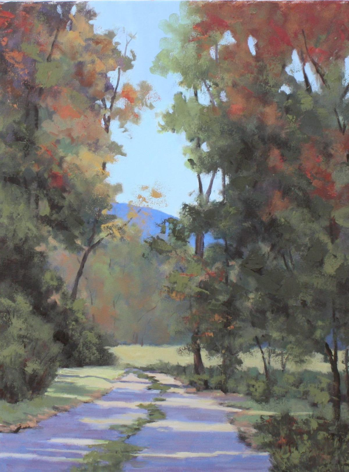 'A Walk in the Mountains' (22 x 28) in oil by Sheila Hancock at Alta Vista Gallery.